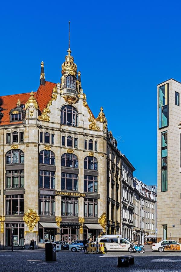 Paysage urbain de Leipzig photos libres de droits