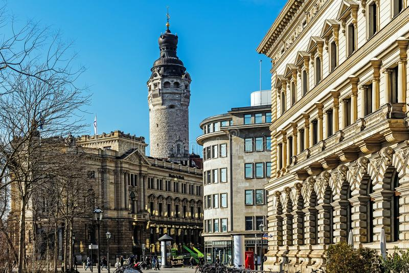 Paysage urbain de Leipzig image libre de droits