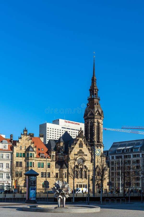 Paysage urbain de Leipzig photographie stock libre de droits