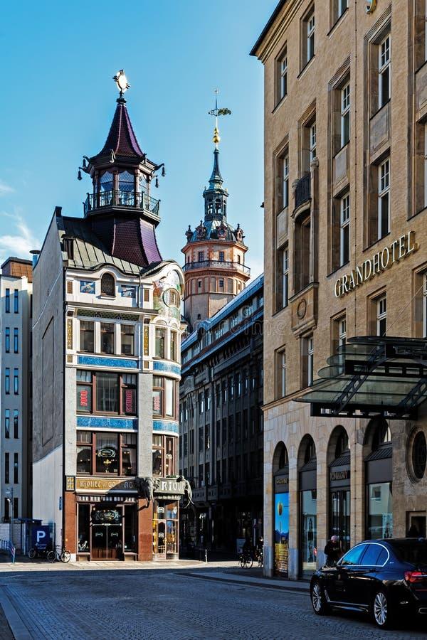 Paysage urbain de Leipzig photographie stock