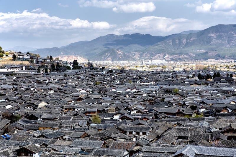 Paysage urbain de Lijiang, Yunnan, Chine images stock
