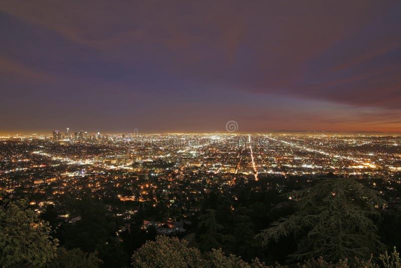 Paysage urbain de Los Angeles photographie stock libre de droits