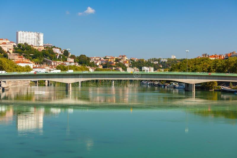 Paysage urbain de Lyon, France photos libres de droits