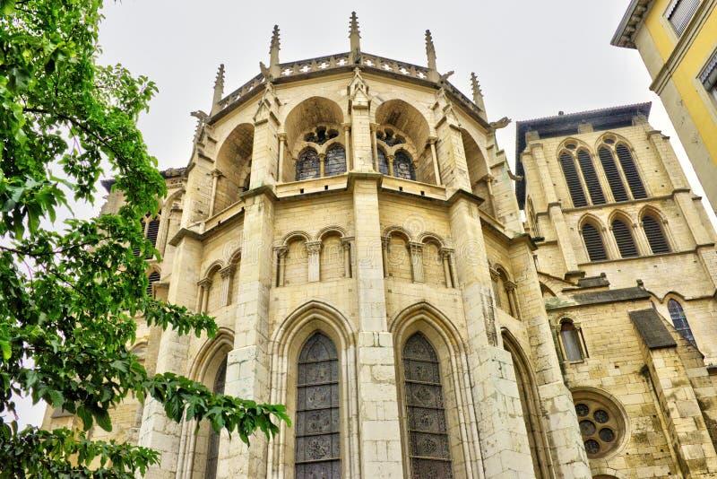 Paysage urbain de Lyon, vues de ville de Lyon, France, voyage l'Europe photographie stock libre de droits