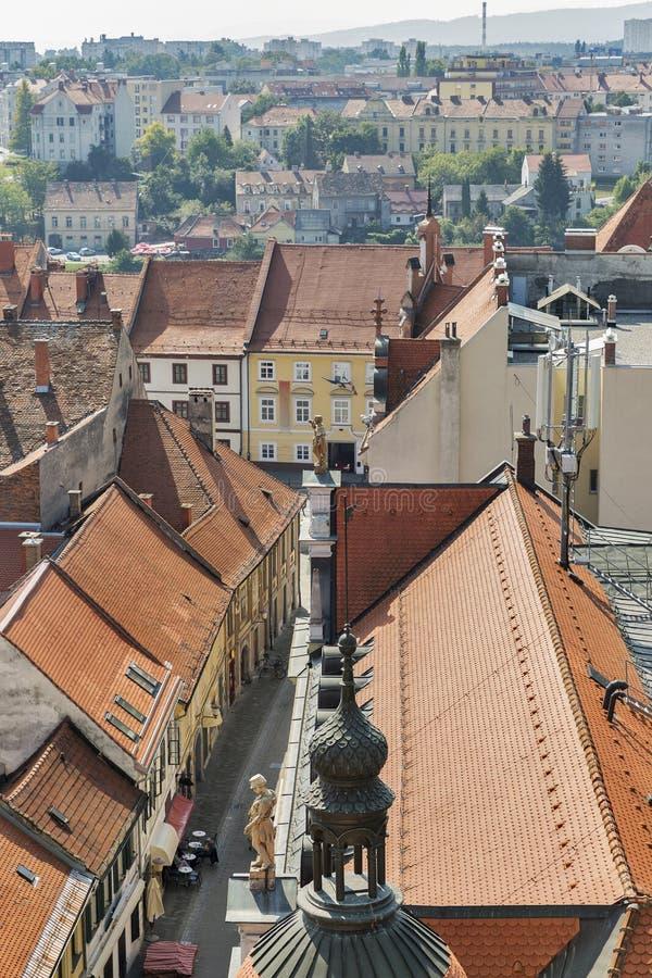 Paysage urbain de Maribor, Slovénie photos libres de droits