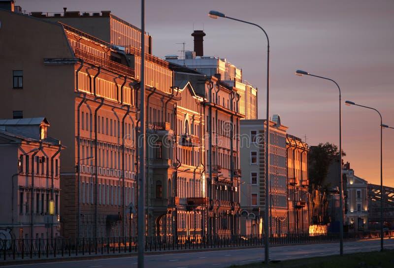 Paysage urbain de matin images libres de droits