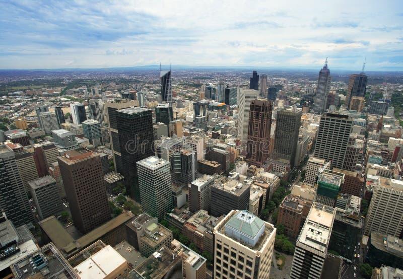 Paysage urbain de Melboune Australie photographie stock libre de droits