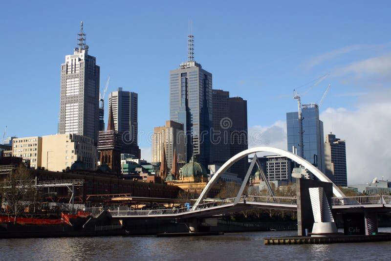 Paysage urbain de Melbourne image stock