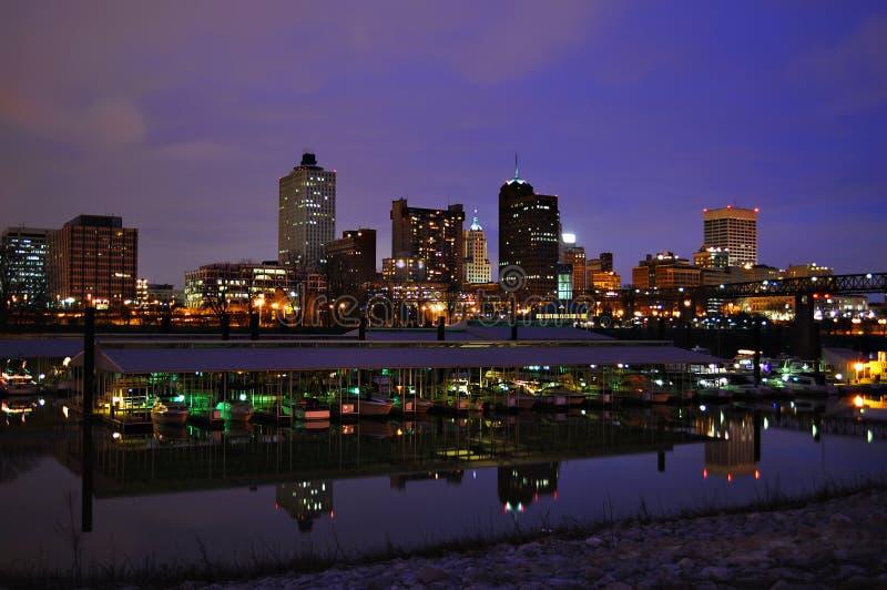 Paysage urbain de Memphis photographie stock