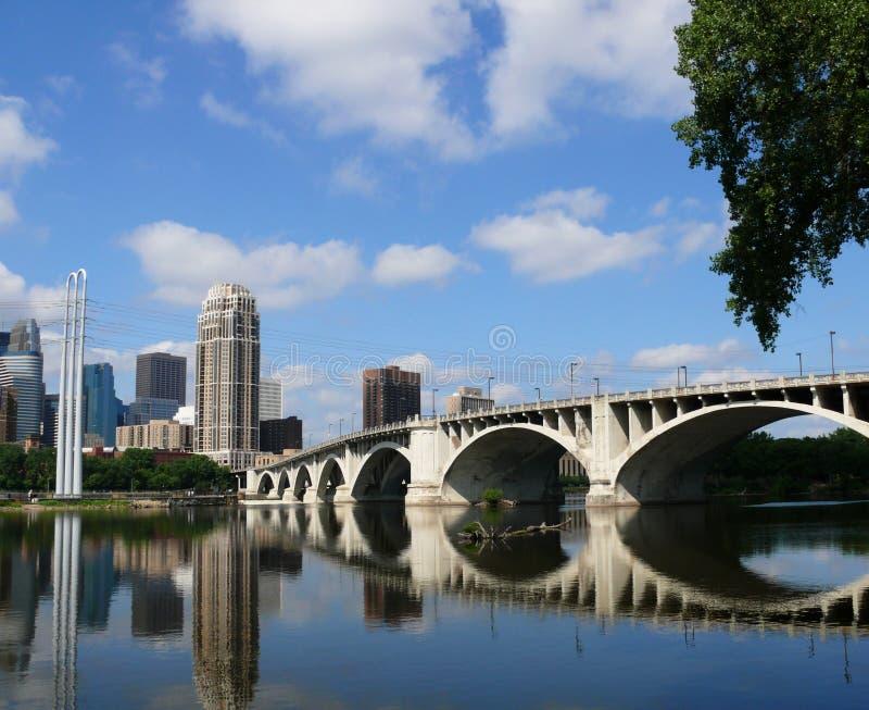 Paysage urbain de Minneapolis photographie stock