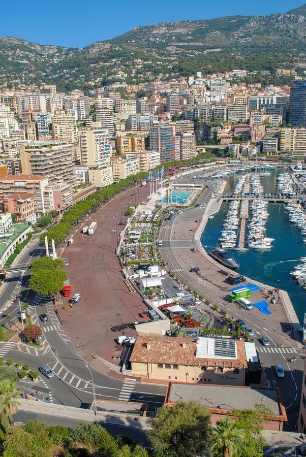 Paysage urbain de paysage urbain de Monte Carlo, Monaco-Ville, Monaco Principauté du Monaco, la Côte d'Azur photos libres de droits