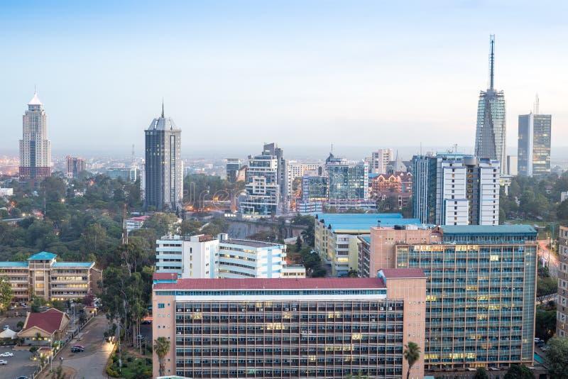 Paysage urbain de Nairobi - capitale du Kenya photo libre de droits