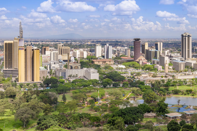 Paysage urbain de Nairobi - capitale du Kenya photos stock