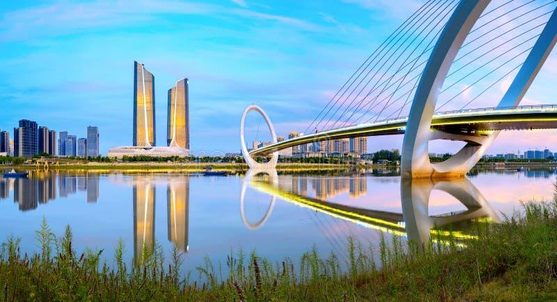 Paysage urbain de Nanjing, Chine image stock