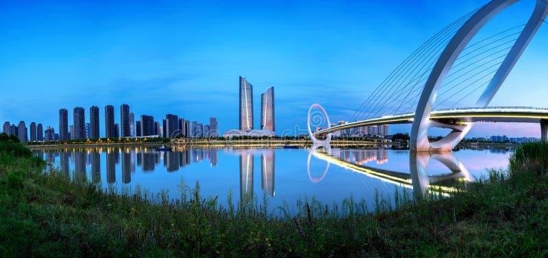 Paysage urbain de Nanjing, Chine images libres de droits