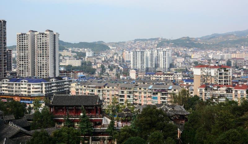 Paysage urbain de Nanning, Chine images libres de droits