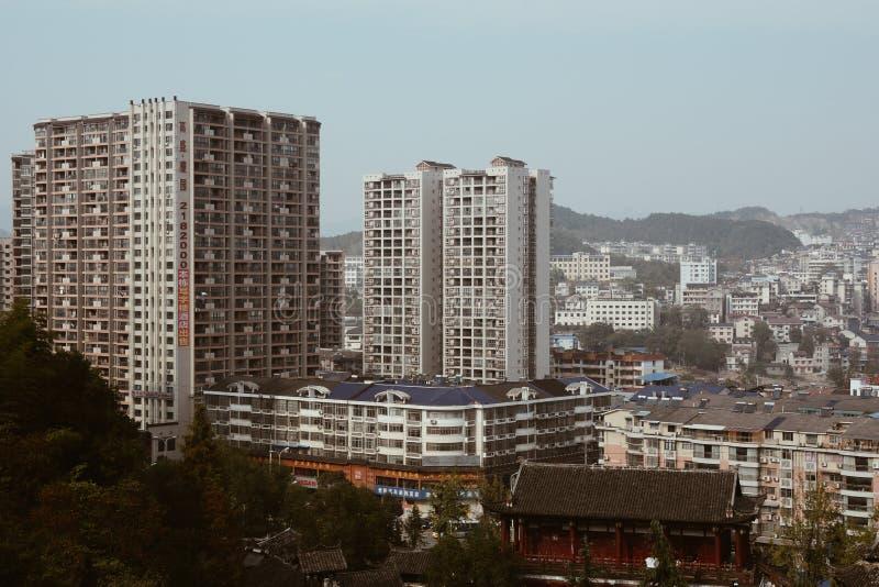 Paysage urbain de Nanning, Chine photographie stock