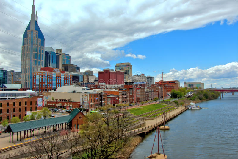 Paysage urbain de Nashville photo stock