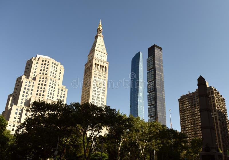 Paysage urbain de New York Gratte-ciel de Manhattan chez Madison Avenue dans N photo libre de droits