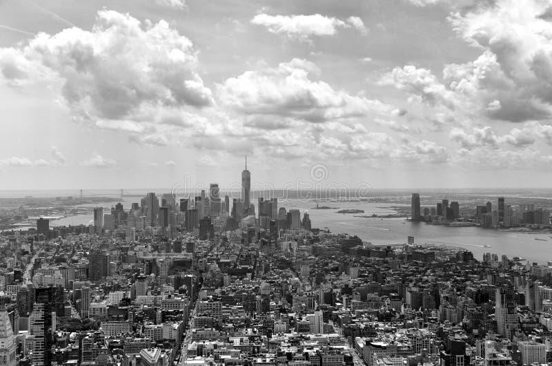 Paysage urbain de New York Panorama de New York City Manhattan de SK photographie stock libre de droits