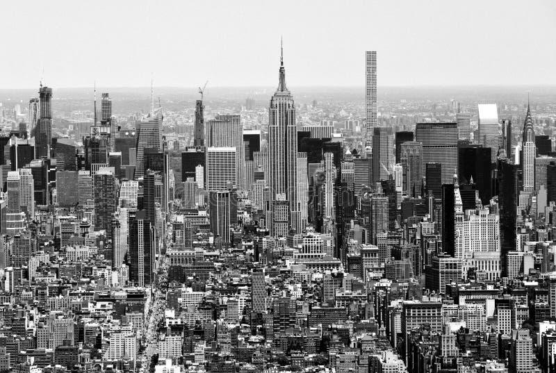 Paysage urbain de New York Vue supérieure sur New York City image libre de droits