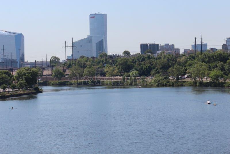 Paysage urbain de Philadelphie du centre, Pennsylvanie image libre de droits