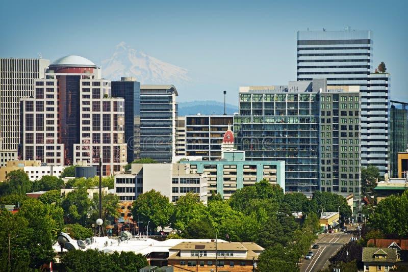Paysage urbain de Portland photos libres de droits