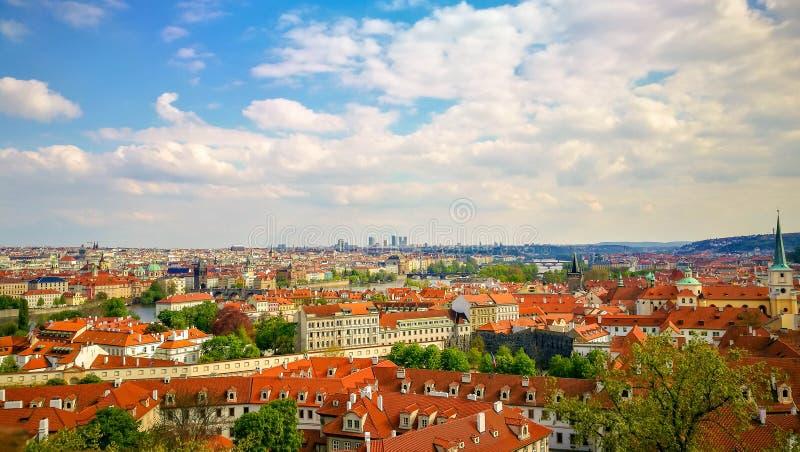 Paysage urbain de Prague, tchèque photo libre de droits