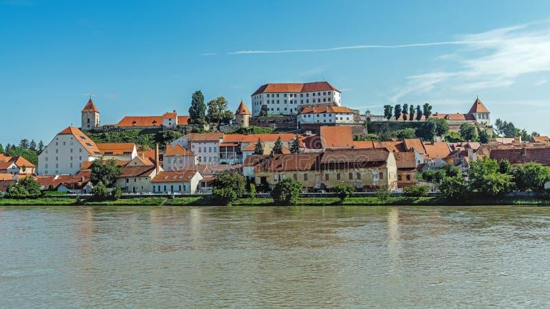 Paysage urbain de Ptuj image libre de droits
