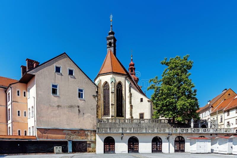 Paysage urbain de Ptuj photos libres de droits