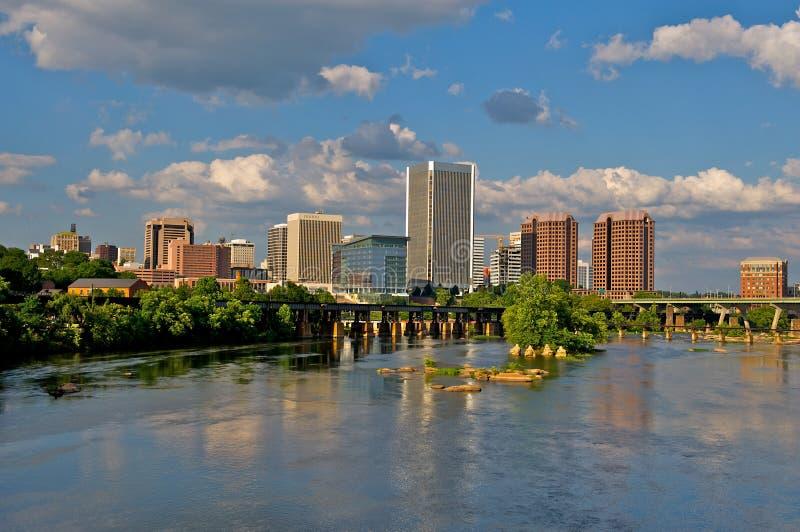 Paysage urbain de Richmond, la Virginie. photographie stock libre de droits