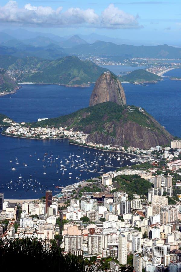 Paysage urbain de Rio de Janeiro photographie stock libre de droits
