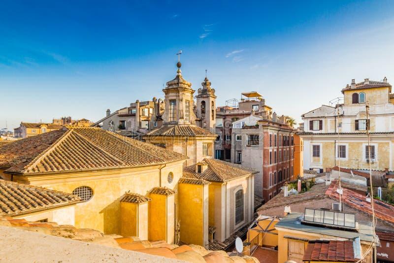 Paysage urbain de Rome images libres de droits