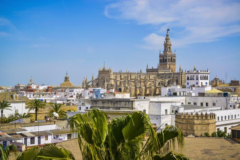 Paysage urbain de séville Espagne image libre de droits