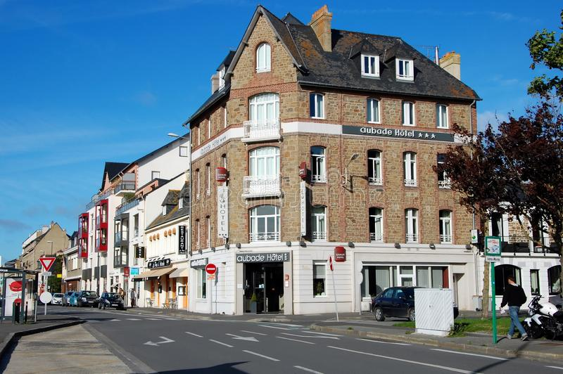 Paysage urbain de Saint Malo image stock