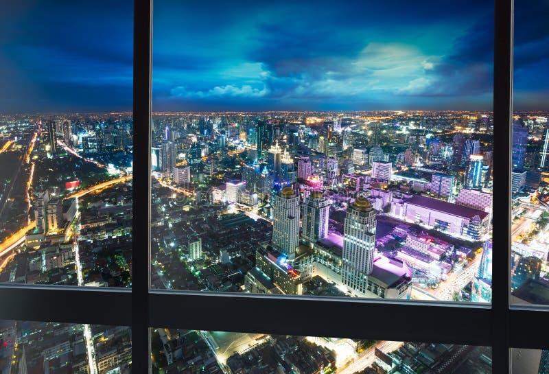 Paysage urbain de scène de nuit images stock
