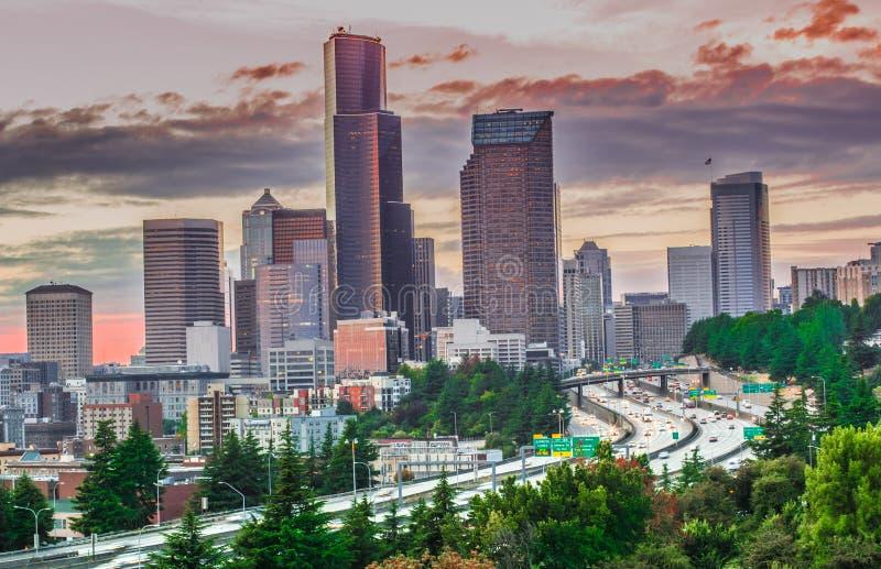 paysage urbain de Seattle photos libres de droits