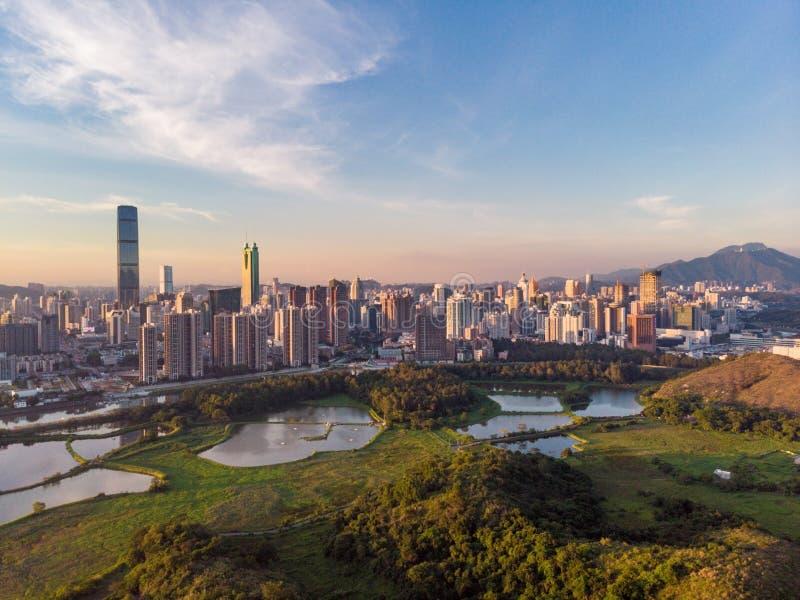 Paysage urbain de Shenzhen, Chine photo libre de droits