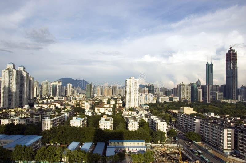 Paysage urbain de Shenzhen, district de Luohu image stock