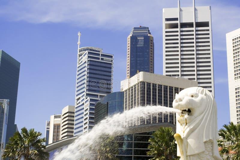 Paysage urbain de Singapour photographie stock libre de droits