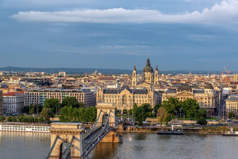 Paysage urbain de stup?faction Budapest photos libres de droits