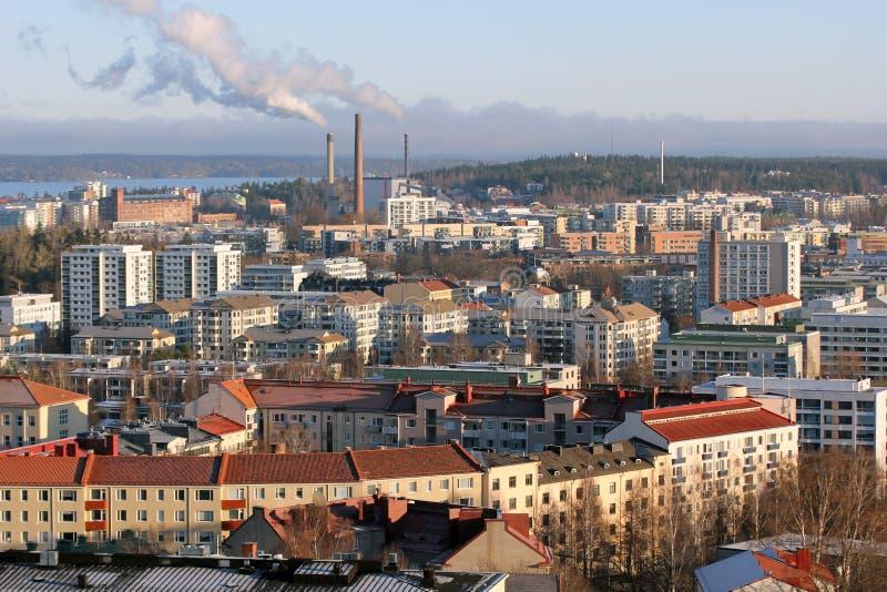 Paysage urbain de Tampere image libre de droits