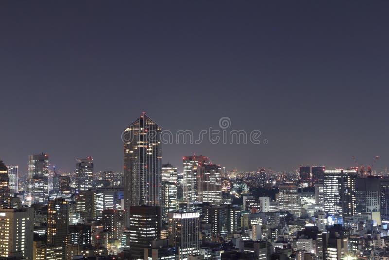Paysage urbain de Tokyo la nuit photos libres de droits