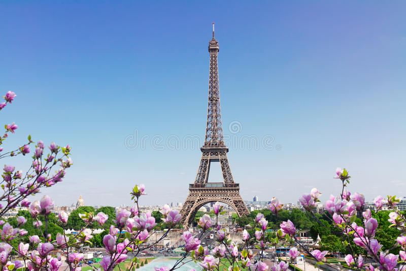 Paysage urbain de Tour Eiffel et de Paris photo stock