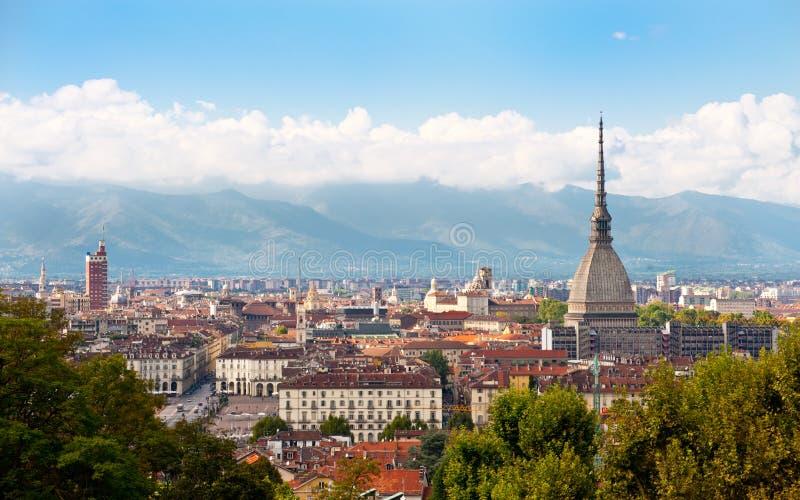 Paysage urbain de Turin photographie stock libre de droits