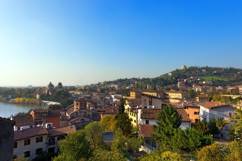 Paysage urbain de Vérone - l'Italie photos libres de droits
