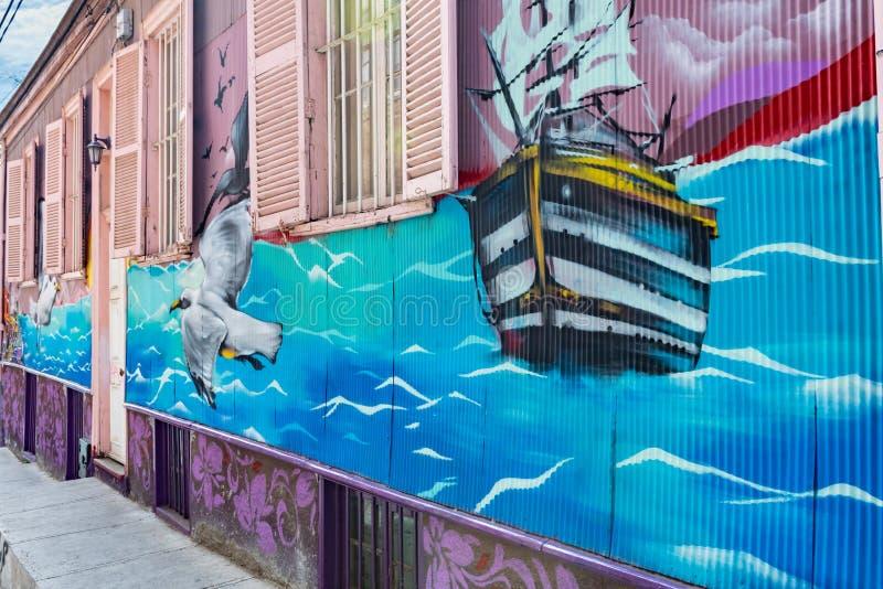 Paysage urbain de Valparaiso, Chili image stock