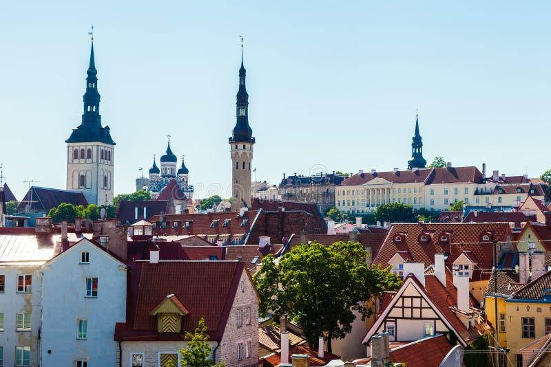 Paysage urbain de vieille ville Tallinn, Estonie photographie stock