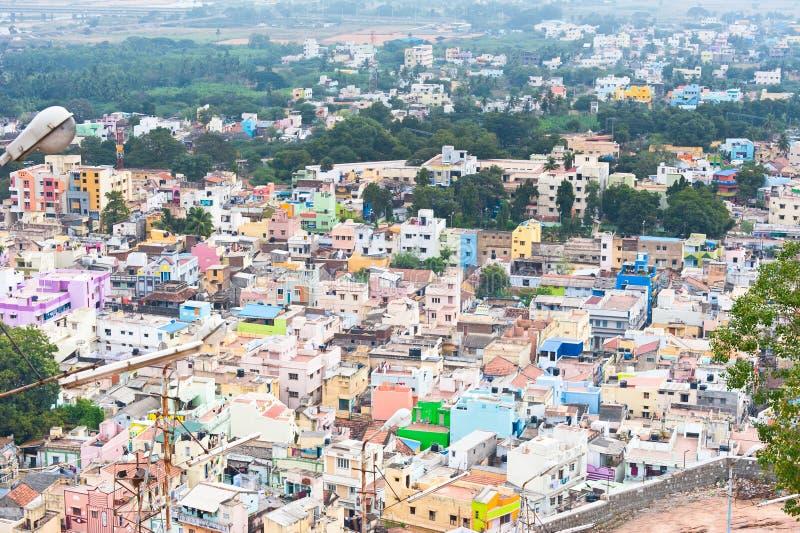 Paysage urbain de ville indienne serr e photo stock for Paysage de ville