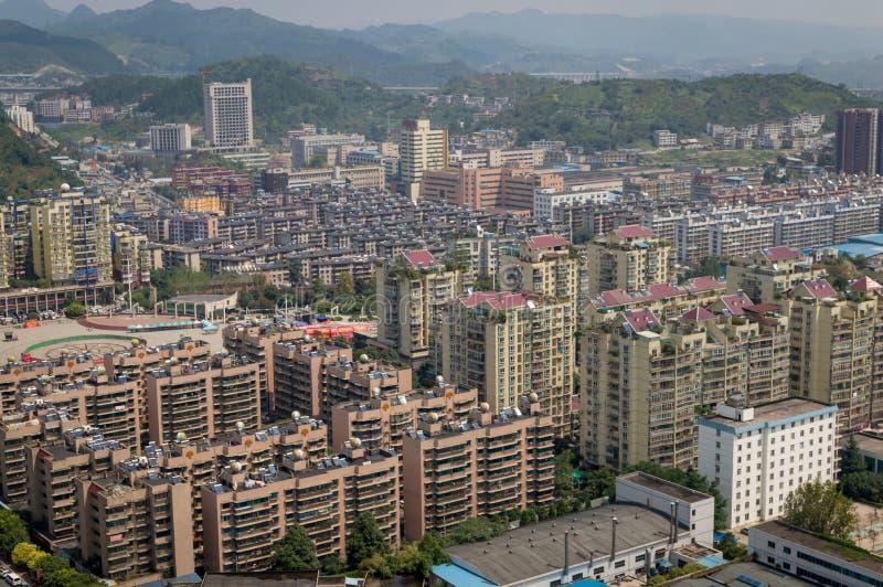 Paysage urbain de villege de forêt de Guiyang, porcelaine photo libre de droits